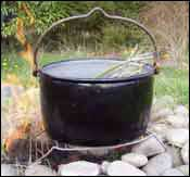 photo of boiling the strips