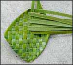weaving a flax flower step 9